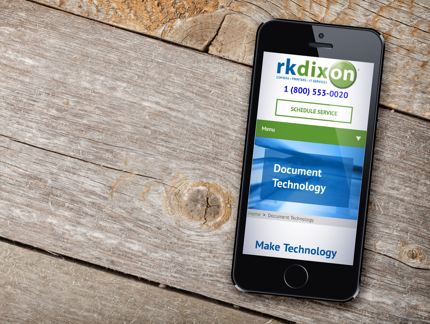 RK Dixon Responsive Website