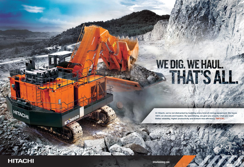 Hitachi Brand Ad Campaign We Dig