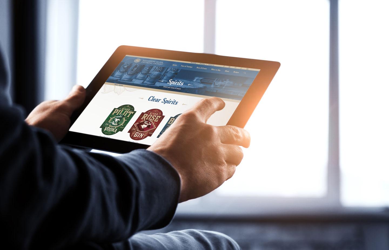 Mississippi River Distilling Compnay, MRDC, MindFire Communications, website design, custom website design