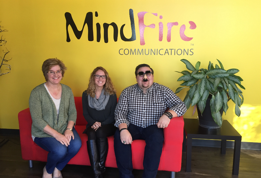 Jennifer Sautter, Case Levigne, James Patrick Schmidt, MindFire Communications, branding agency, advertising agency, growth