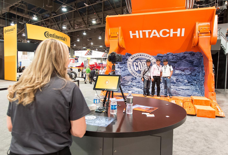 Hitachi MINExpo 2016 tradeshow booth