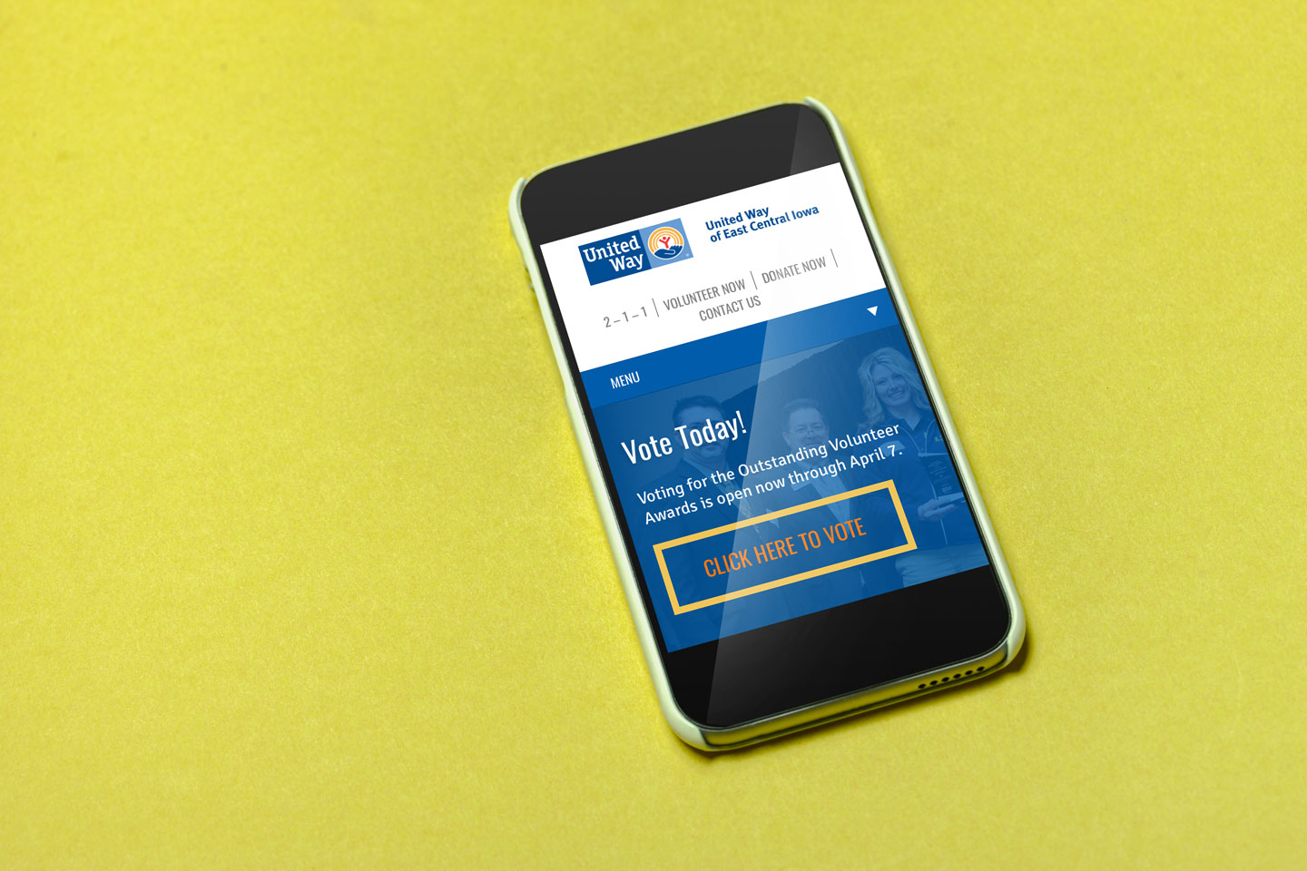United Way of East Central Iowa, website, mindfire communications, website design