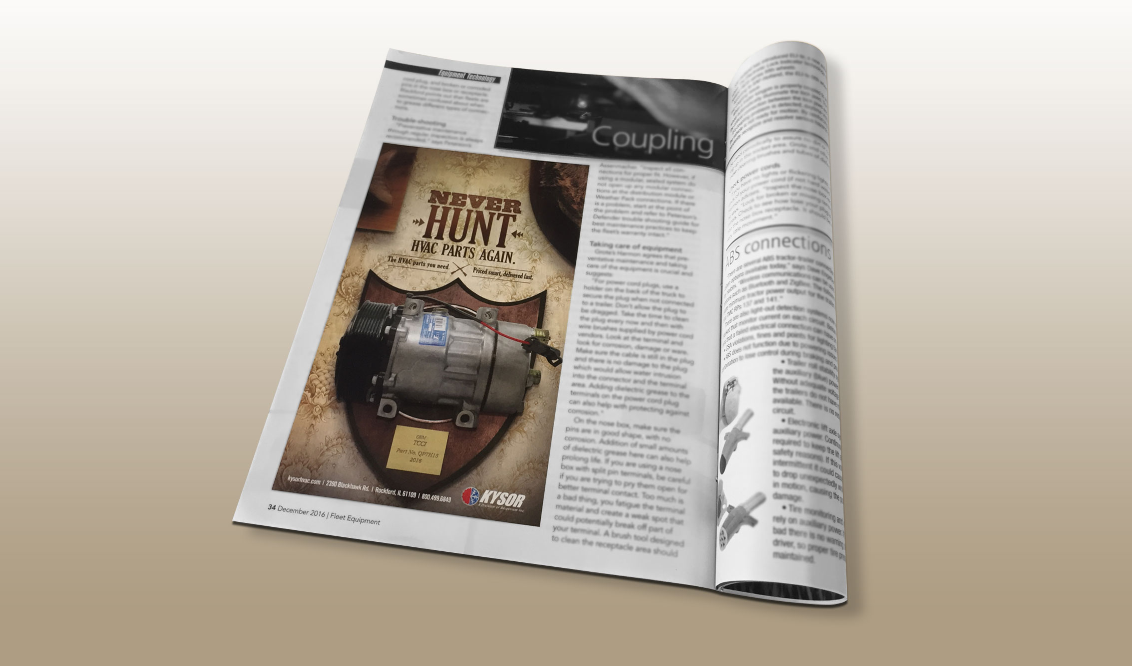 Bergstrom, Kysor, Never Hunt ads, print ads, MindFire Communications
