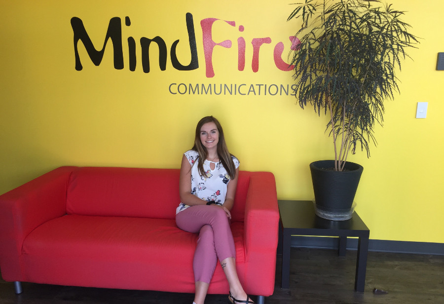macey harms, mindfire communications, internship program, mindfire, ad agency
