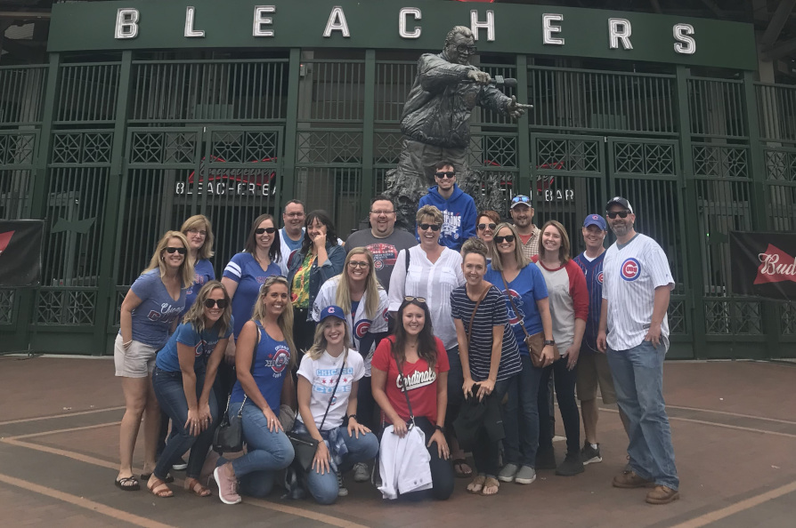 MindFire team at Wrigley Field