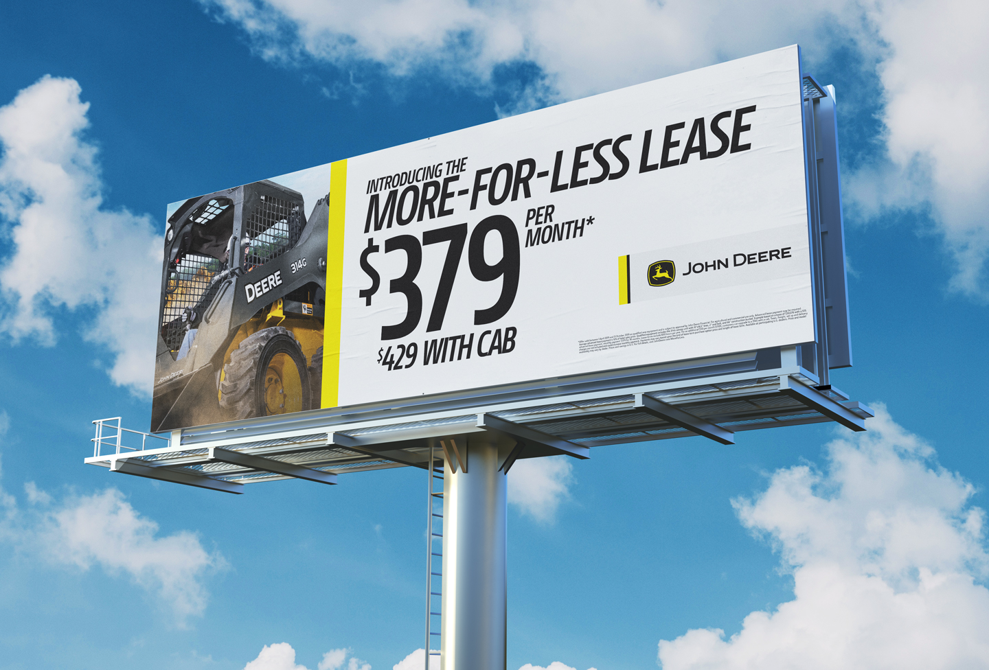 billboard showing more for less lease