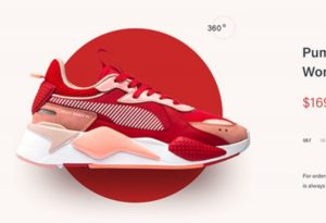 A Puma shoe with flat and more design