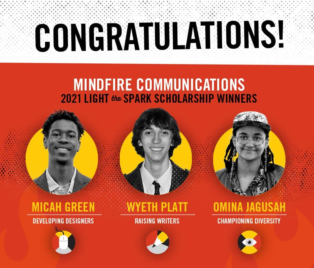 MindFire scholarship winners